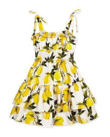 lemon print dress dolce Gabbana