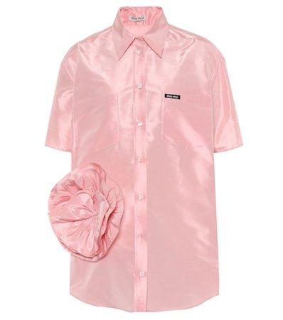 Embellished taffeta shirt
