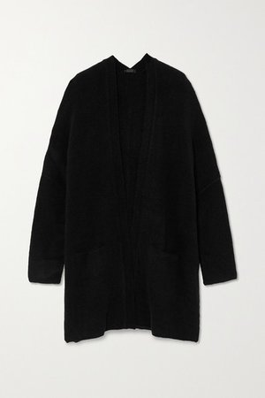 Oversized Knitted Cardigan - Black