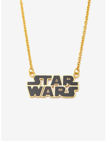 Star Wars Gold Plated Star Wars Logo Necklace