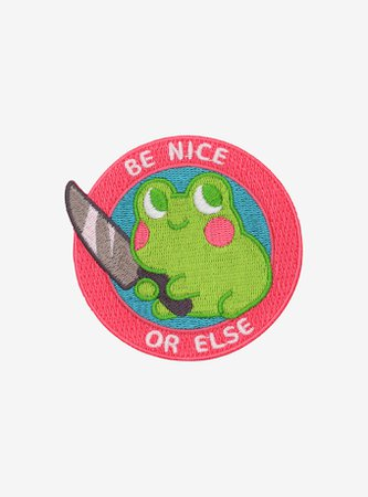 Be Nice Frog Knife Patch