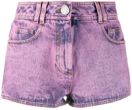 Logo-Patch Denim Shorts