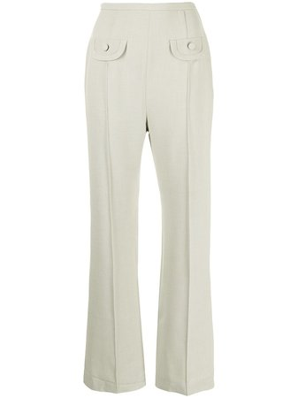 Shop George Keburia high-waisted tailored trousers with Express Delivery - FARFETCH