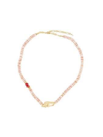 Anni Lu shell-pendant Beaded Necklace - Farfetch