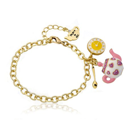 Tea 4 Two Crystal Tea Pot Dangle Bracelet – shoptwinstars