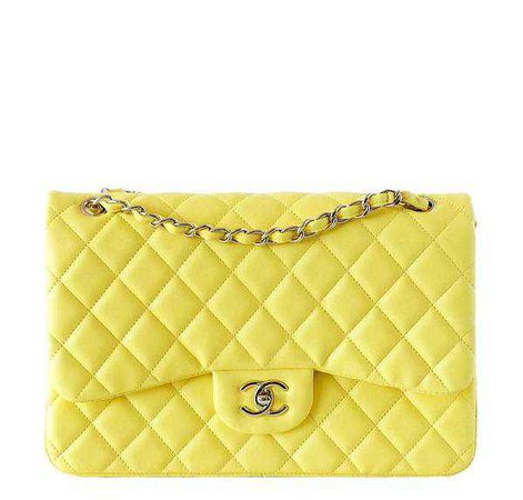 Chanel Classic Double Flap Maxi Bag Yellow - Very Rare | Baghunter