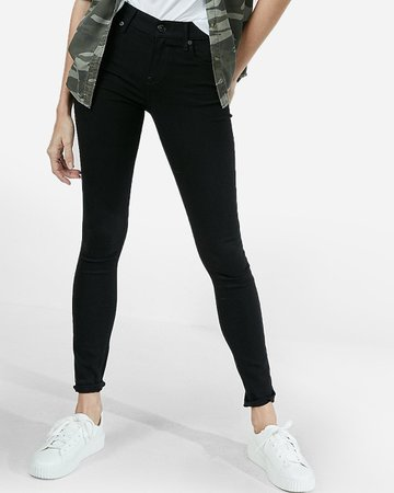 Mid Rise Black Skinny Jeans | Express