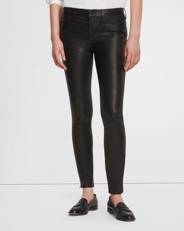 L8001 Mid-Rise Legging in Stretch Leather