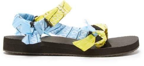 Arizona Love - Trekky Bandana Wrapped Sandals - Womens - Yellow Multi