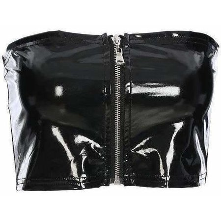 Faux Leather Zip Tube Top – Own Saviour