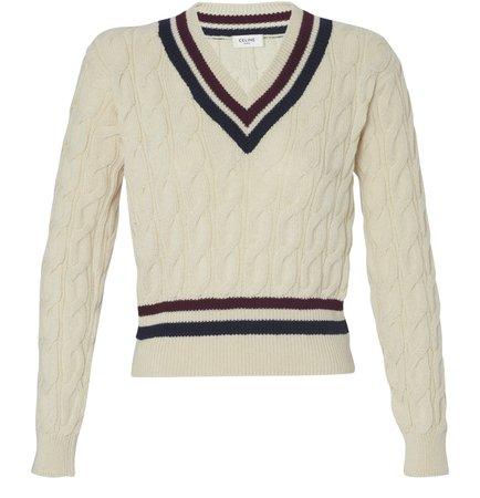 Women's V-neck woollen sweatshirt | CELINE | 24S