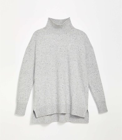 Flecked Hi-Lo Tunic Sweater | LOFT