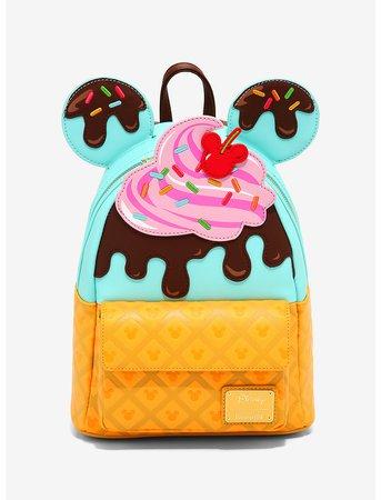 Loungefly Disney Mickey Mouse Sundae Mini Backpack