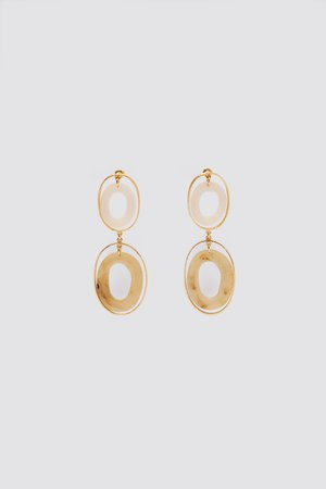 OVAL RESIN EARRINGS | ZARA Russian Federation