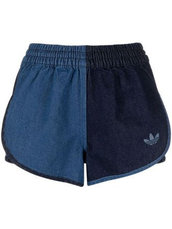 Adidas two-tone denim twill shorts blue GM5374 - Farfetch
