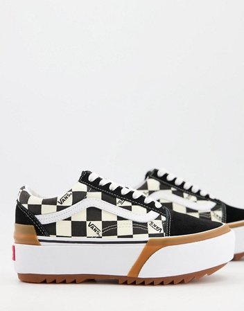 Vans UA Old Skool checkerboard sneakers in black/white | ASOS