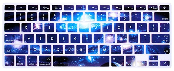 "HRH Swirl Starry Sky Keyboard Cover Silicone Skin for MacBook Air 13 and MacBook Pro 13"" 15"" 17"" (with or w/out Retina,Not Fit 2016 Macbook Pro 13 15 with/without Touch Bar) US Layout"