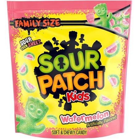 Sour Patch Kids Watermelon Candy, Original Flavor, 1 Family Size Bag (1.8 lb) - Walmart.com - Walmart.com