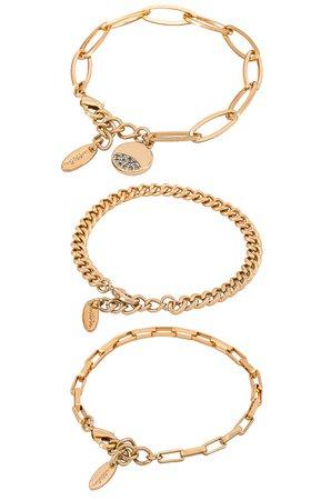 Ettika Chain Bracelet Set in Gold | REVOLVE