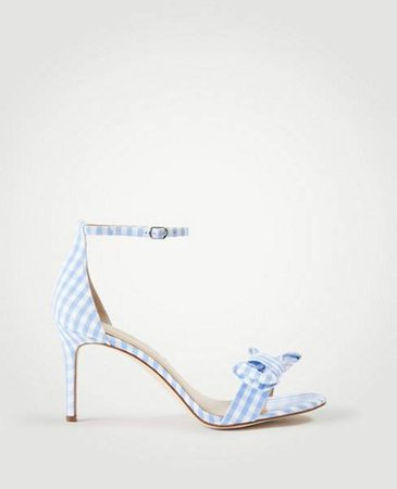 Kinsley Gingham Bow Heeled Sandals