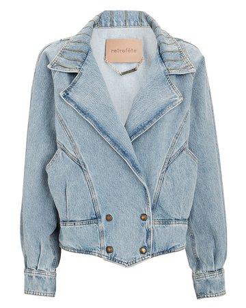 Retrofête Ellie Double-Breasted Denim Jacket   INTERMIX®