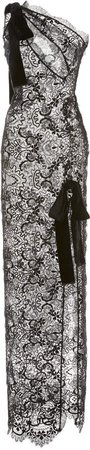 Tom Ford One-Shoulder Silk-Blend Lace Dress