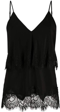 Tiered Lace Trim Camisole