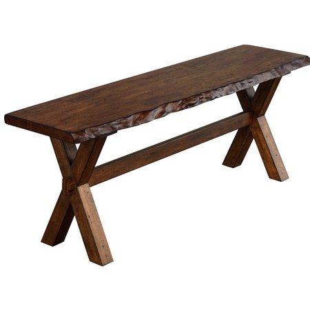 Millwood Pines Tiggs Wood Bench & Reviews | Wayfair