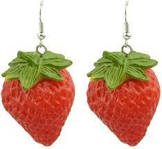 strawberry earrings - Google Search