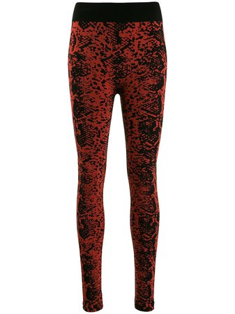 Wolford Blotched Snake Leggings