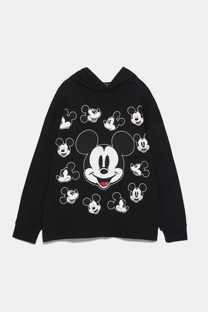 DISNEY MICKEY MOUSE® SWEATSHIRT | ZARA United States black
