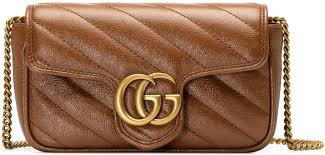 GG Marmont matelassé super mini bag brown - Google Search