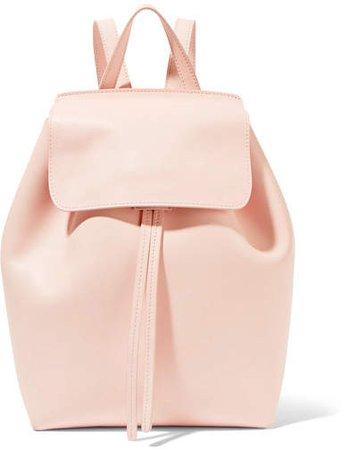 Mini Leather Backpack - Blush