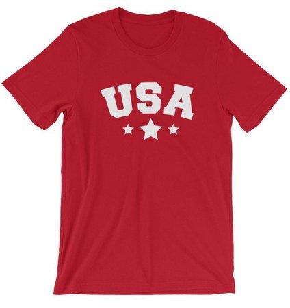 Red T-shirt USA