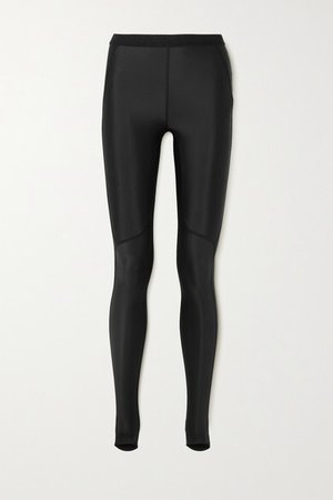 Stretch Stirrup Leggings - Black