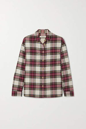 Tartan Cotton-flannel Shirt - Red