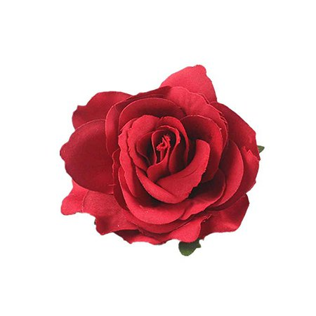 Amazon.com: Lovefairy Beautiful Rose Flower Hair Clip Pin up Flower Brooch for Party Travel Festivals (Dark Red): Clothing