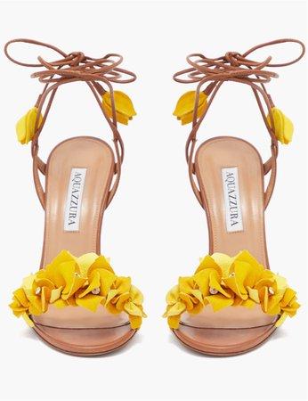 yellow heels sandals mustard