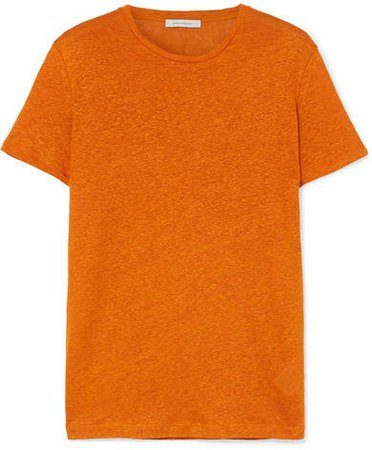 Linen T-shirt - Orange