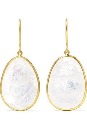 Pippa Small | 18-karat gold moonstone earrings | NET-A-PORTER.COM