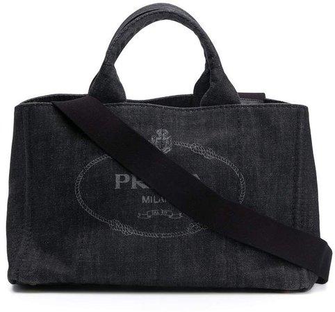 Prada Pre Owned Logo Print Tote