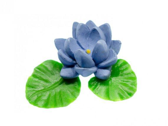 Blue Water Lily Brooch Miniblings Broach Pin Flower Spring | Etsy