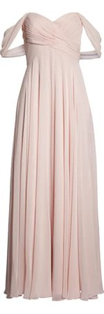 Dessy Collection Lux Ruched Off the Shoulder Chiffon Gown (Regular & Plus Size)   Nordstrom