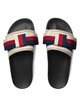 Gucci Satin Slides With Sylvie Bow - Farfetch