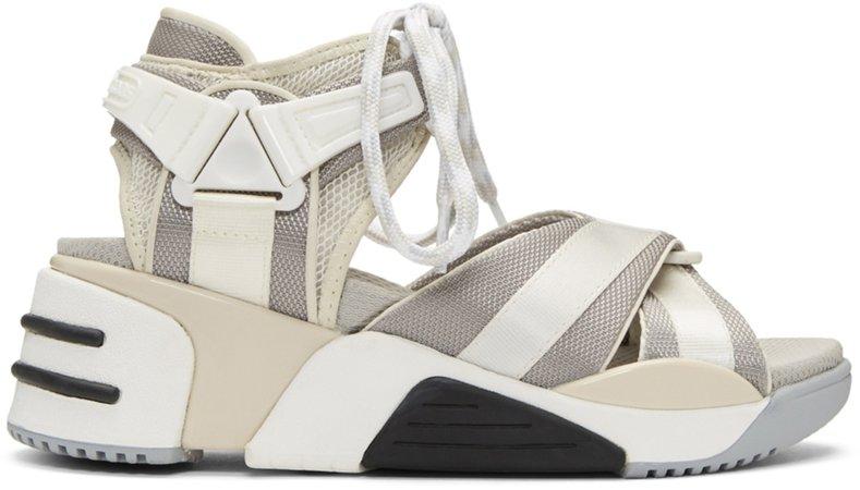 Marc Jacobs  Off-White & Grey Somewhere Sport Sandals €300 EUR