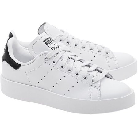 ADIDAS ORIGINALS Stan Smith Bold White // Flat leather sneakers