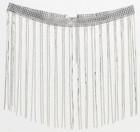 rhinestone fringe belt