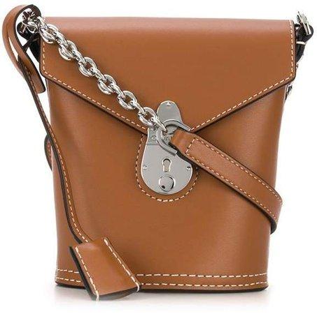 Foldover Push-Lock Bucket Bag