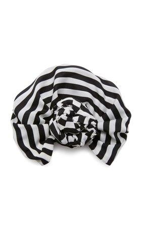 Julia Clancey Exclusive Edith Striped Satin Headwrap