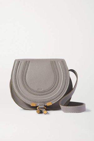 Marcie Mini Textured-leather Shoulder Bag - Gray